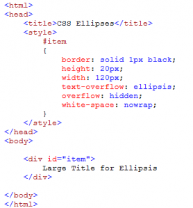 CSS Ellipsis & HTML Tooltip | Travis J  Gosselin